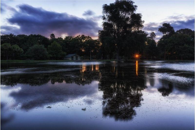 Anochece en el Lago Victoria