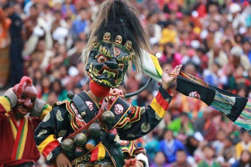 disfraz tradicional de Bután