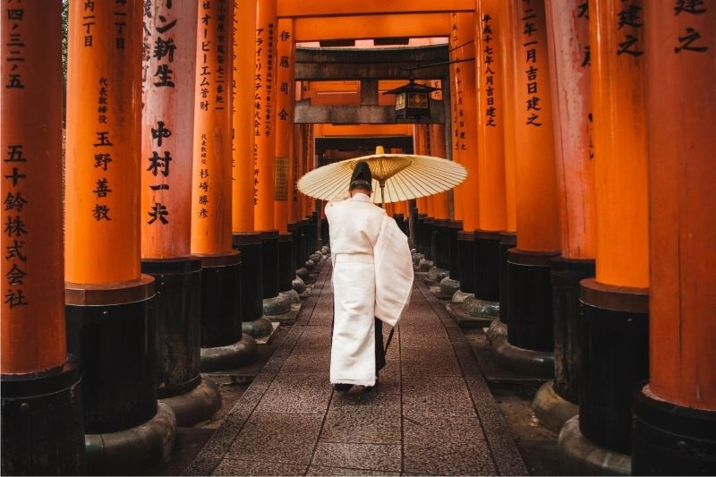 Monje en Fushimi Inari