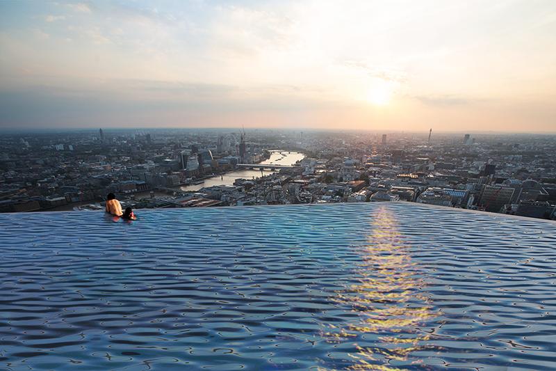 Piscina infinita en Londres