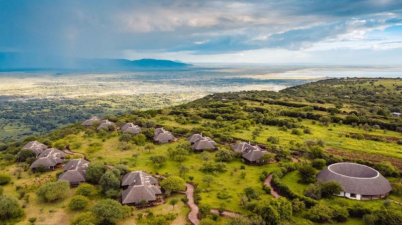 Vista general del Lodge en Tanzania