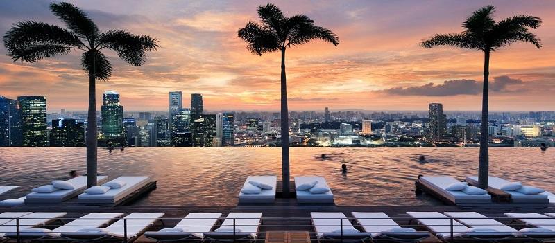 Piscina Infinita Marina Bay Sands