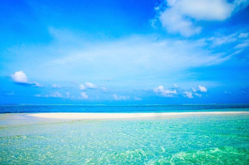 Sand Bank en Maldivas