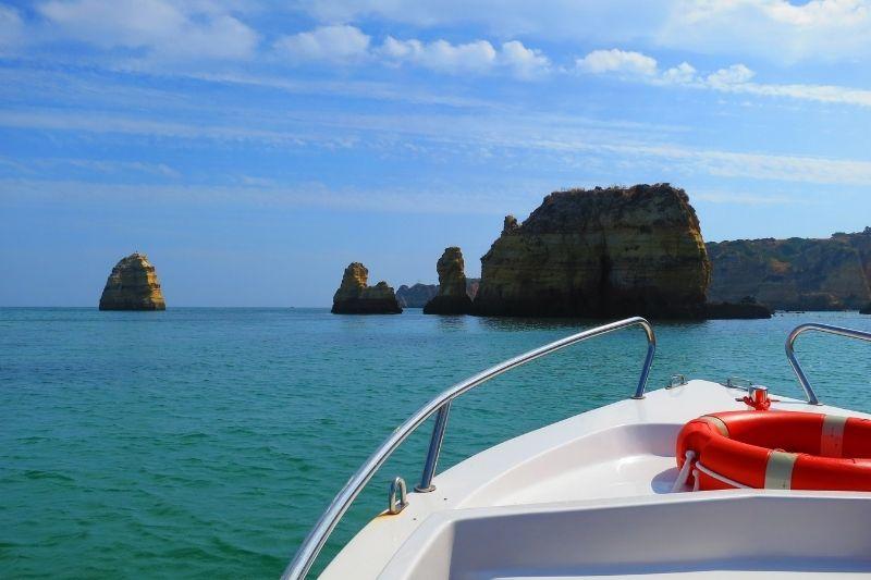 Barco en el Algarve