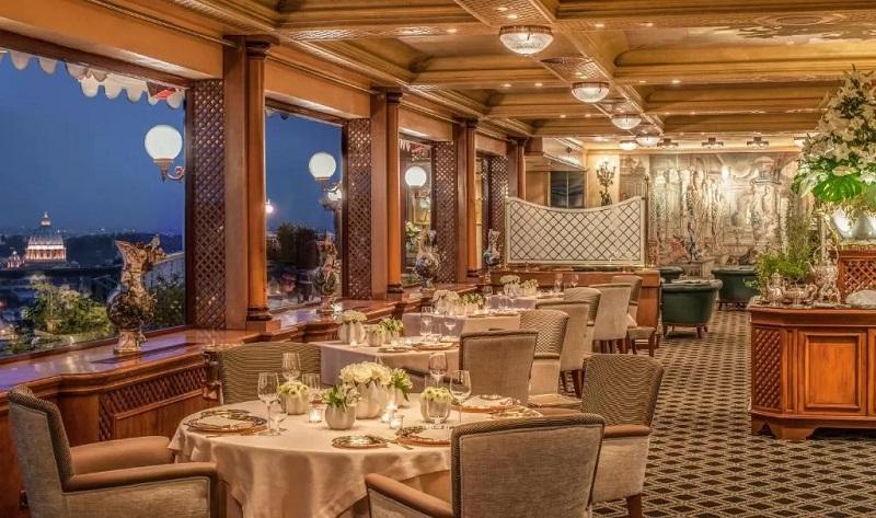 Restaurante La Pergola en Roma