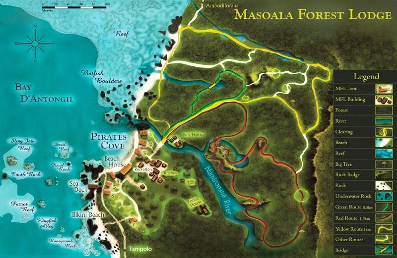 Mapa Masaola Lodge