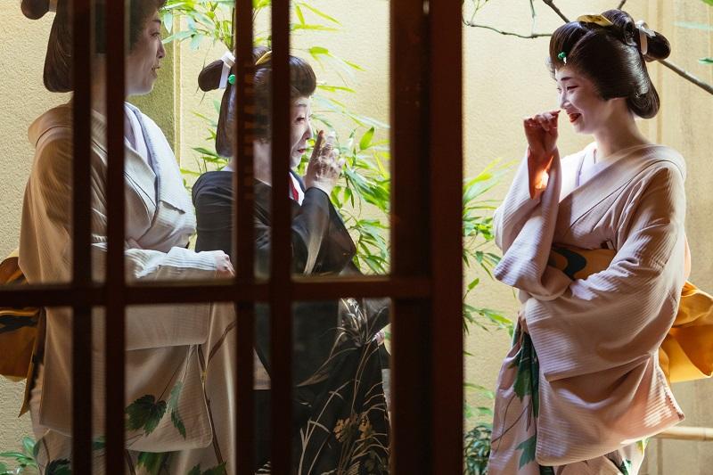 Geishas en Aman Tokyo