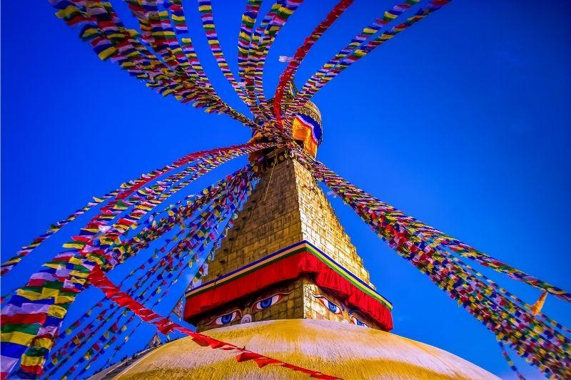 Templo de los ojos en Nepal